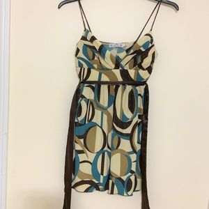 Trixxi, women's Brown and Blue Floral dress